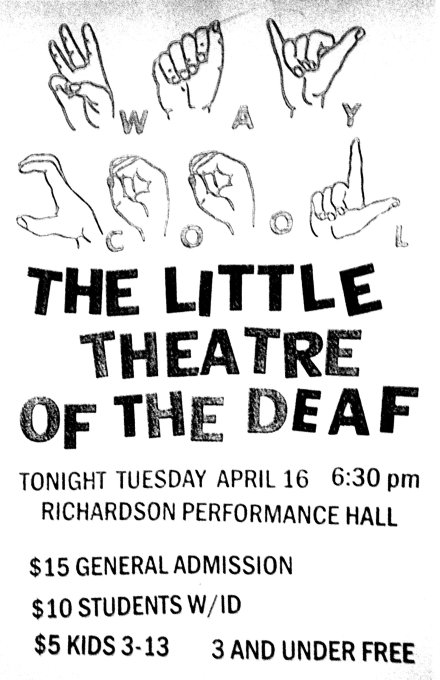 Little Theatre of the Deaf flyer